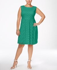 Love Squared Trendy Plus Size Fit And Flare Dress Peacock