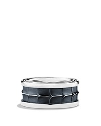 David Yurman Armory Wide Band Ring Silver