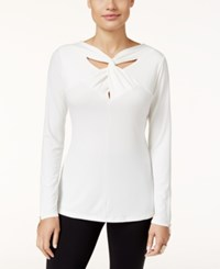 Thalia Sodi Twist Neck Top Only At Macy's Cloud