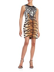 Robert Rodriguez Animal Print Wool And Silk Dress Sahara Nero
