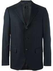 Caruso Three Button Blazer Blue