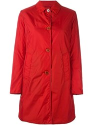 Aspesi Double Breasted Mid Coat Red
