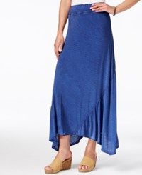 G.H. Bass And Co. Pull On Maxi Skirt True Navy