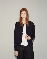 Comme Des Gacons Girl Lambswool Cardigan Navy