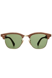 Ray Ban Rb3016 Clubmaster Sunglasses Brown