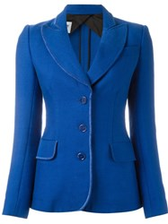 Moschino Vintage Fitted Jacket Blue