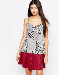 Vero Moda Animal Print Cami Top White