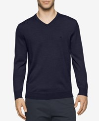 Calvin Klein Men's Merino V Neck Sweater Moloc