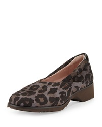 Tarah Active Walking Loafer Gray Leopard Taryn Rose