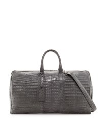 Speedy Crocodile Duffel Bag Charcoal Grey Santiago Gonzalez