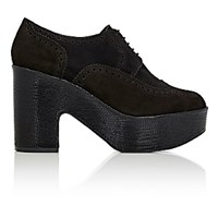 Robert Clergerie Women's Voel Platform Derbys Black Blue Black Blue