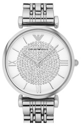 Emporio Armani 'Retro' Bracelet Watch 32Mm Silver