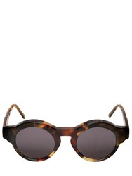Kuboraum Berlin Blocked Acetate Round Framed Sunglasses