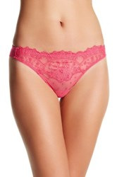 Wacoal Embroidered Thong Pink