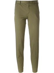 Pt01 Slim Chino Trousers Green