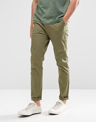 Asos Skinny Chinos In Khaki Burnt Olive Green