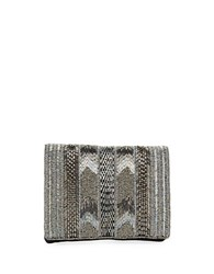 Mary Frances Beaded Convertible Clutch Pewter