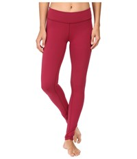Beyond Yoga Essential Long Legging Merlot Women's Workout Red