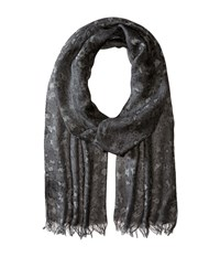 John Varvatos Skull Leopard Print Silver Heather Scarves