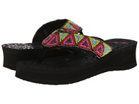 Mandf Western Rachel Black Women's Sandals