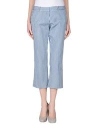 Kiltie Trousers 3 4 Length Trousers Women Dark Blue