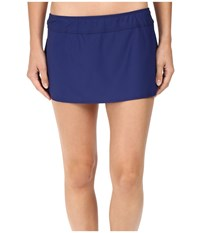 Athena Solids A Line Skirt Cover Up Navy Women's Swimwear