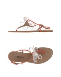 Anna Baiguera Footwear Thong Sandals Women Orange