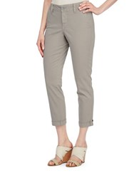 Nydj Cropped Chino Pants Soft Taupe