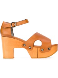 Robert Clergerie 'Cevina' Sandals Brown
