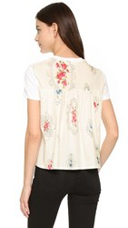 Red Valentino Print Back Tee White