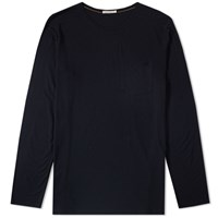 Nudie Jeans Long Sleeve Pocket Tee Black
