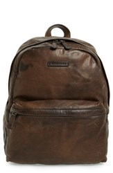 Frye Men's 'Tyler' Leather Backpack Brown Dark Brown