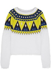 Finds Aimo Richly Angora And Wool Blend Sweater White