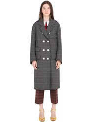 Gucci Embellished Prince Of Wales Wool Coat