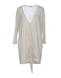 Le Ragazze Di St. Barth Long Sleeve Sweaters Beige