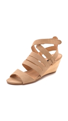 Matiko Ursina Wedge Sandals Light Brown