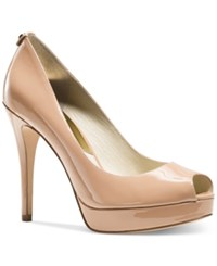 Michael Kors York Platform Pumps Women's Shoes Dark Nude