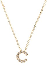 Bony Levy Women's Pave Diamond Initial Pendant Necklace Nordstrom Exclusive Yellow Gold C