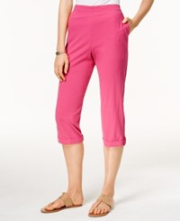 Alfred Dunner Cropped Pull On Pants Fuchsia
