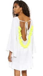 Sundress Indiana Basic Short Beach Dress White Neon Yellow