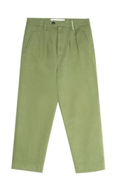 Victoria Beckham Selvedge Trousers Green