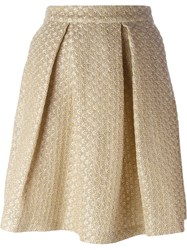 Ermanno Scervino Pleated Skirt Nude And Neutrals