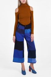 Rodebjer Patchwork Wide Jeans Blue