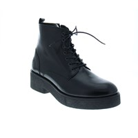 Bronx Gloss Leather Lace Up Boot Black