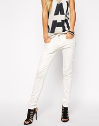 G Star Lynn Skinny Jeans White3drinsed
