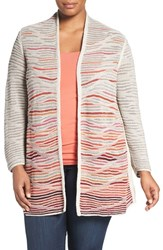 Nic Zoe Plus Size Women's 'Harvest' Open Front Cardigan