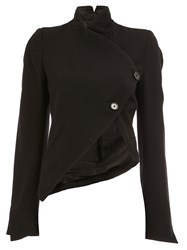 Ann Demeulemeester Cropped Wrap Jacket Black