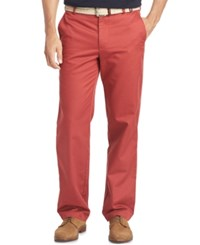 Izod Men's Straight Fit Chino Pants Saltwater Red