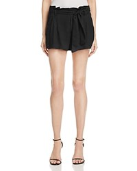 Aqua Paper Bag Shorts Black