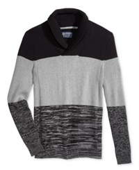 American Rag Men's Colorblocked Shawl Collar Sweater Only At Macy's Deep Black